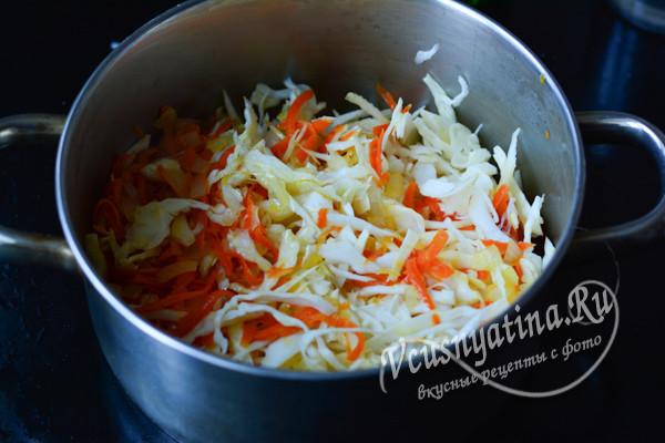 кладем овощи в кастрюлю