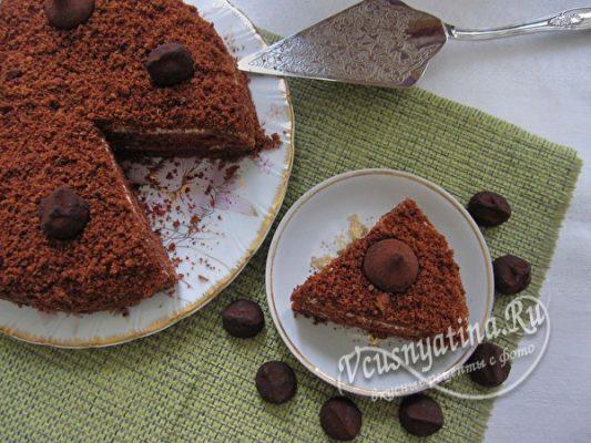шоколадный торт из бисквита