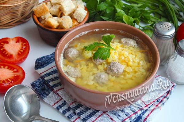 суп из гороха и мяса