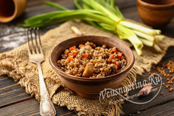 блюдо из гречки с мясом