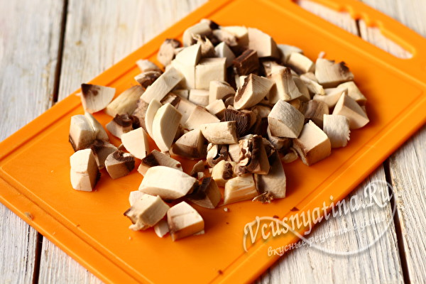 нарзанные грибы