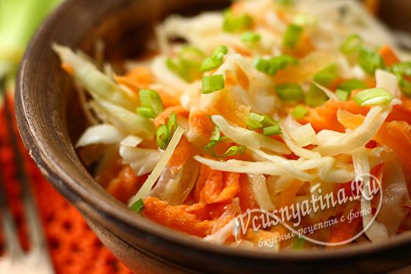морковно-капустный салат