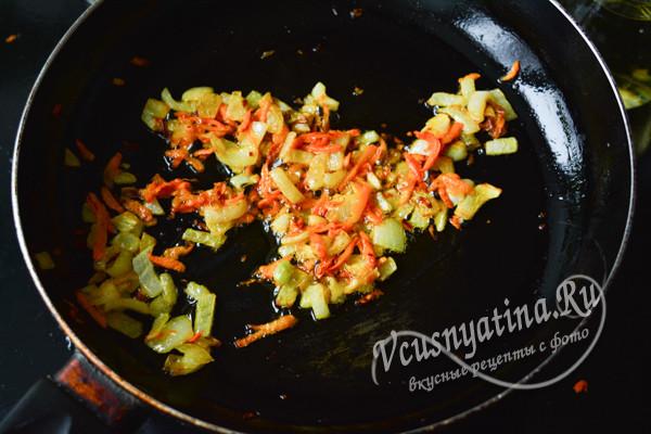 обжарка из овощей
