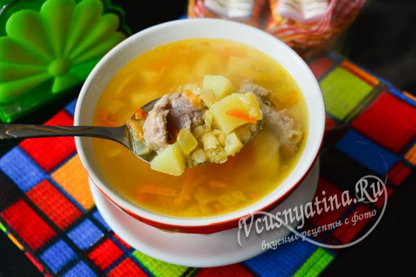 свиной суп из гороха