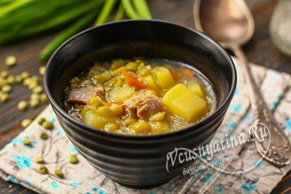 суп из гороха и курицы
