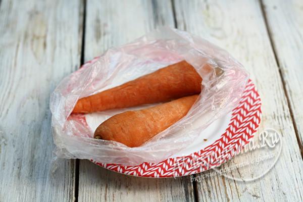 сваренная морковь