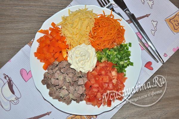 цветной салат