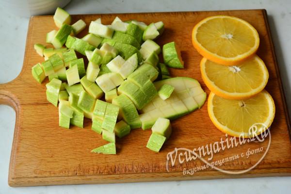 кабачок и апельсины