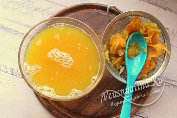 сок апельсина и жмых