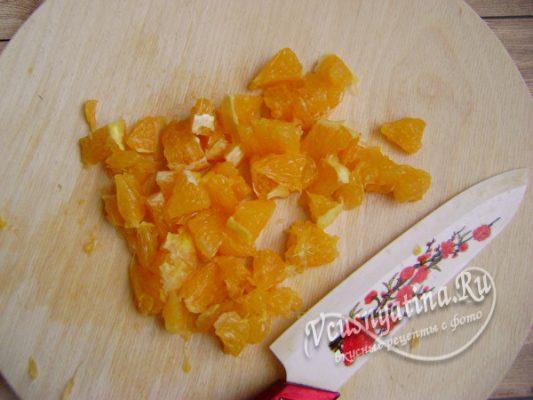 измельчаем апельсин