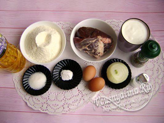 ингредиенты для ленивых беляшей
