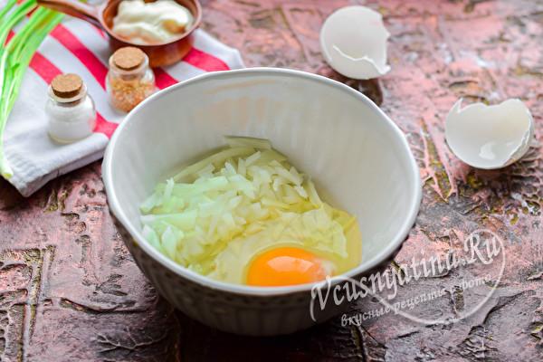 яйцо и лук