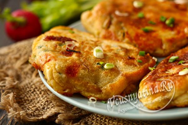 оладьи пиццы