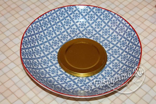 крышка на тарелке