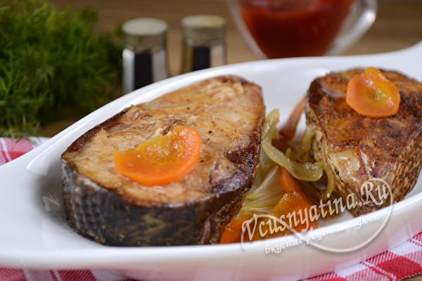 толстолобик с овощами