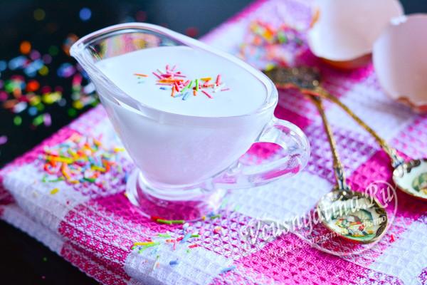 глазурь с сахарной пудрой