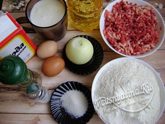 ингредиенты для беляшей