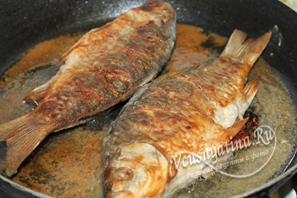 дожариваем рыбу