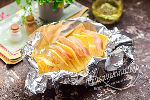 прослоить картофель