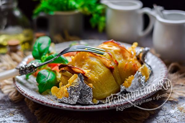 картошка с беконом