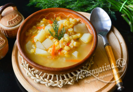 Постный гороховый суп