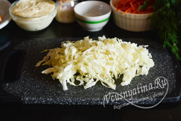 нарезанная пекинская капуста