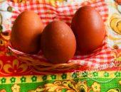 Яйца крашенные луковой шелухой