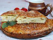Пирог с капустой из теста на кефире