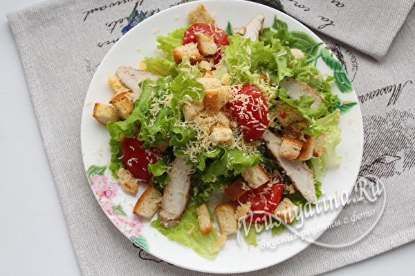 "собираем салат ""Цезарь"""