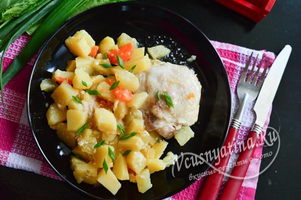 овощи с куриными окорочками