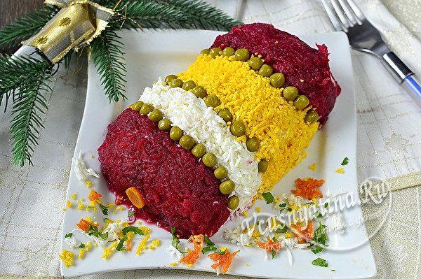 новогодний салат из овощей