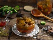 Заготовка из огурцов с кетчупом чили