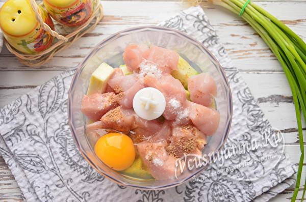 добавить свежее яйцо