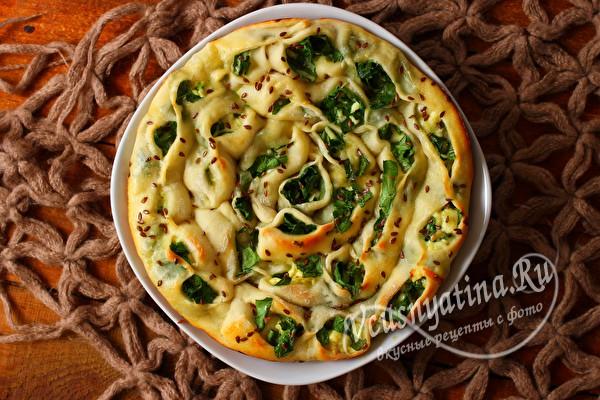 сырный пирог со шпинатом