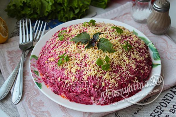 свекольный салат с селедкой