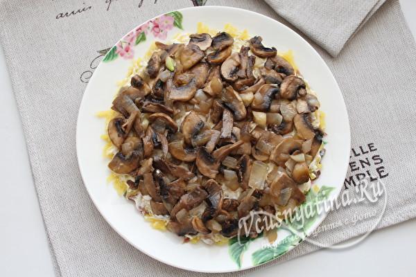 слой жаренных грибов
