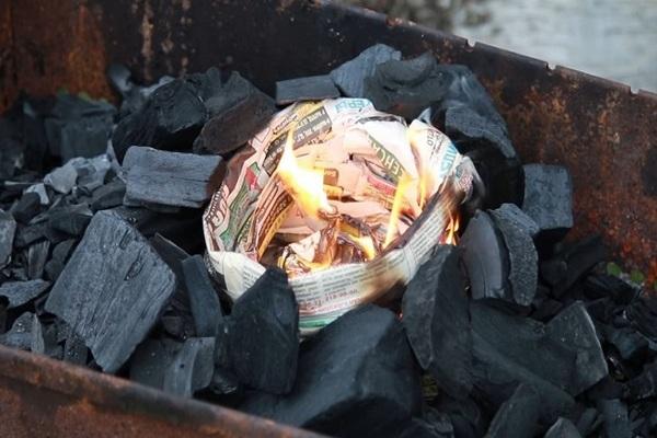 разжигаем газетами