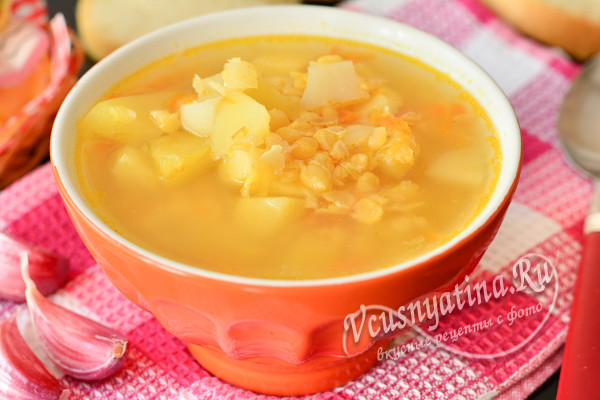 суп из гороха и овощей