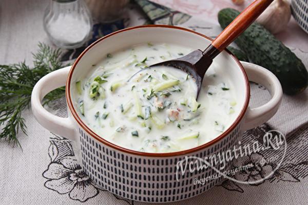 насыщенный суп-окрошка