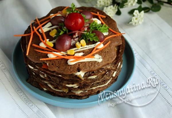 печеночный торт с начинкой