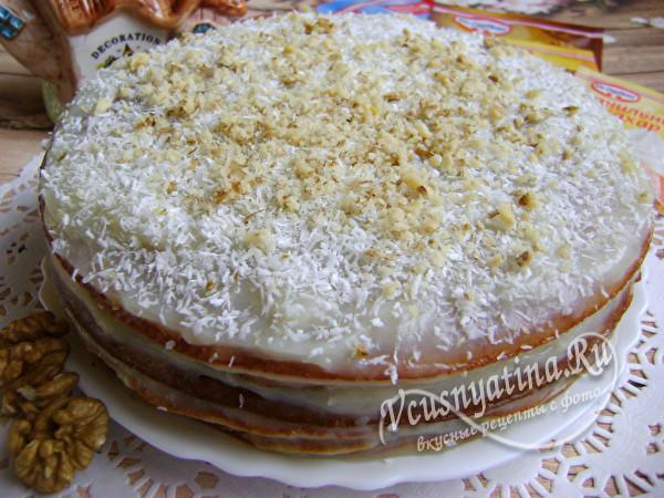 готовый вкусный торт