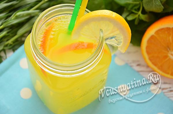 сладкий лимонад с апельсином