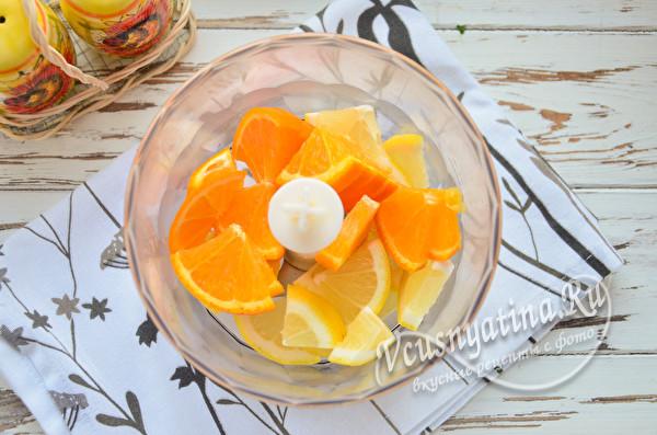 апельсин и лимон нарезать