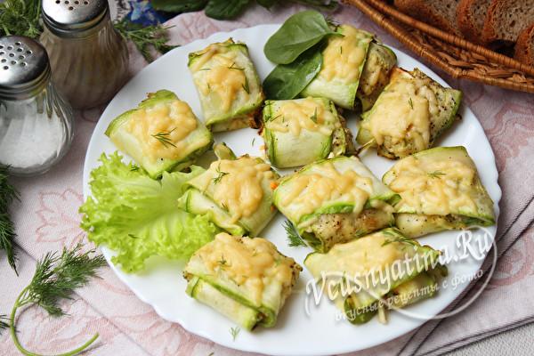 Конвертики из кабачков с сыром