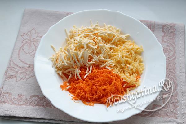 тертый сыр и морковь