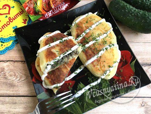 картофельные котлеты с рыбным фаршем