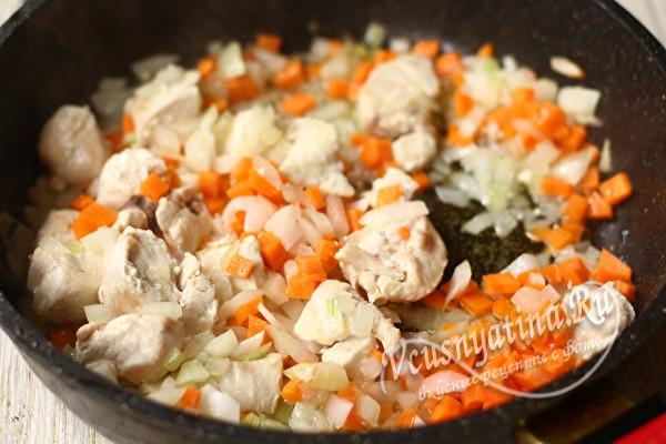тушим овощи с мясом