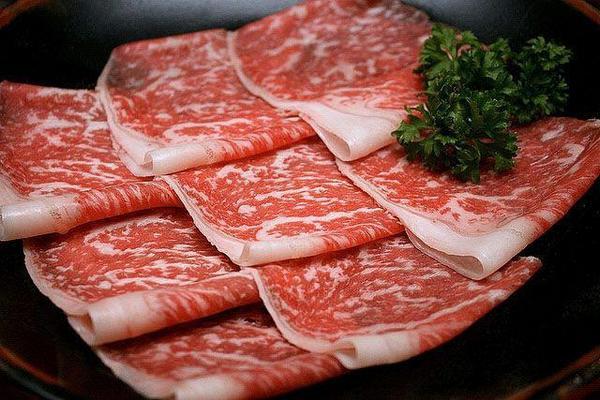 нарезка мраморной говядины