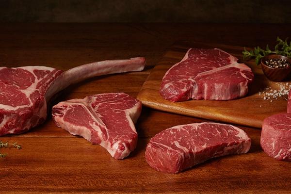 кусочки мраморной говядины
