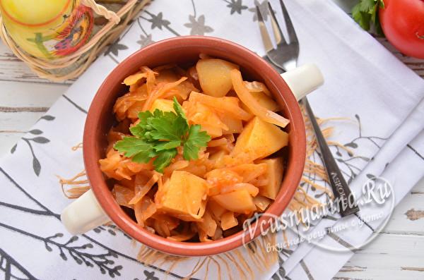 рагу из картошки с капустой